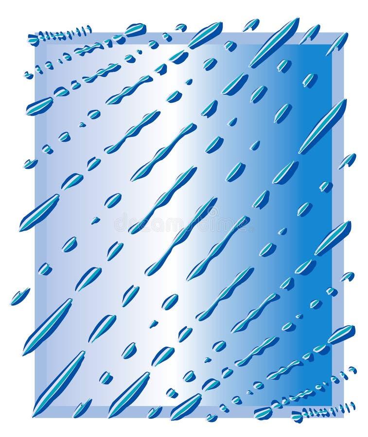 blåa droppar rain waterdrops vektor illustrationer