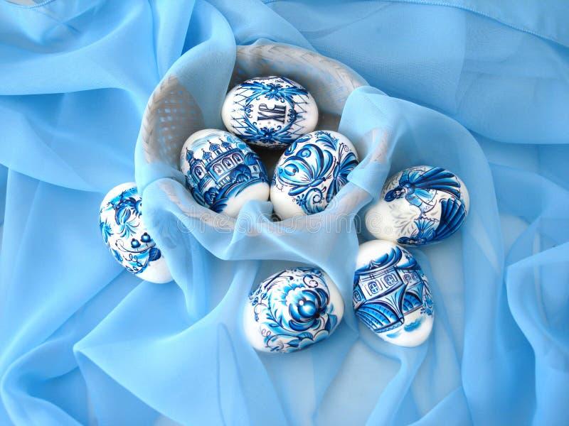 blåa easter ägg fotografering för bildbyråer