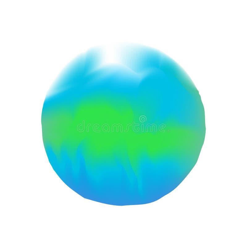 Blåa färger för vattenfärgfläckcirklar i digital målning för begrepp, blåa färger för illustration som är mjuka i stil för målarf royaltyfri illustrationer