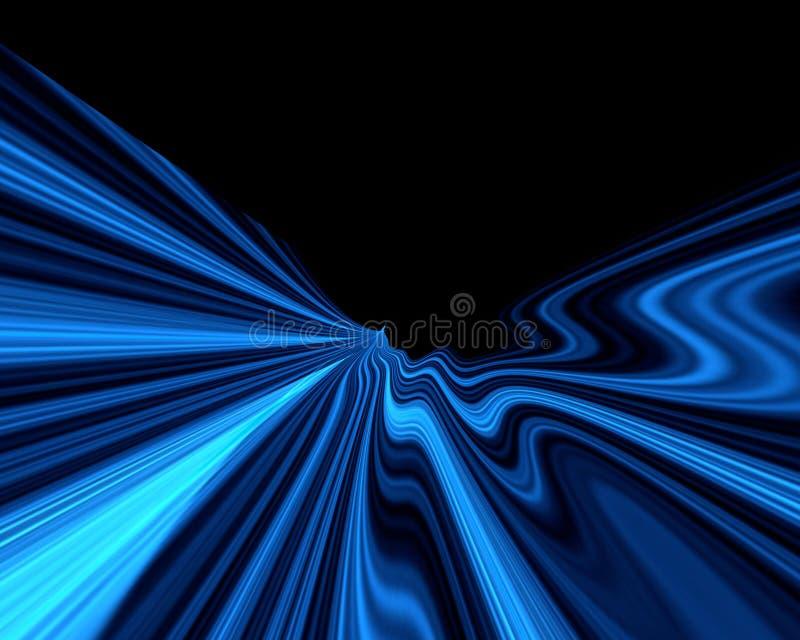 blåa fantasiwaves stock illustrationer