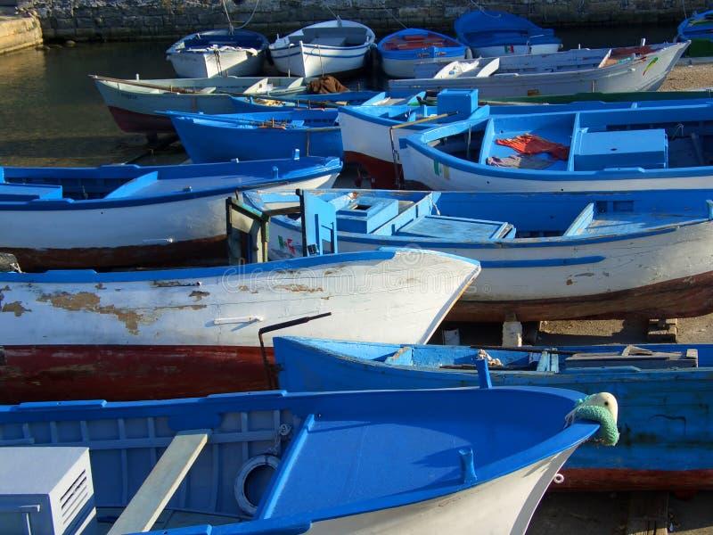blåa fartyg royaltyfri fotografi