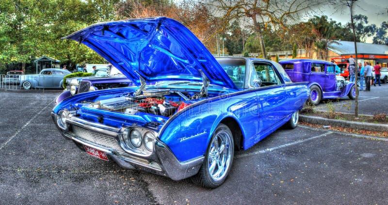 Blåa Ford Thunderbird royaltyfri foto