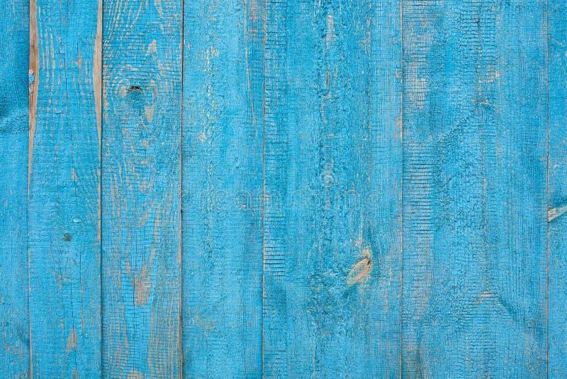 Blåa gamla träbräden royaltyfri foto