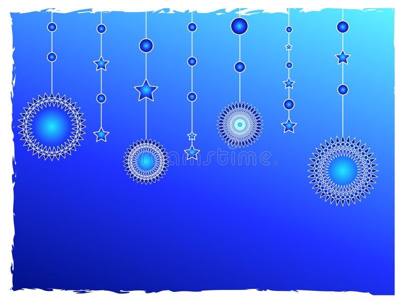 blåa garneringstjärnor royaltyfri illustrationer