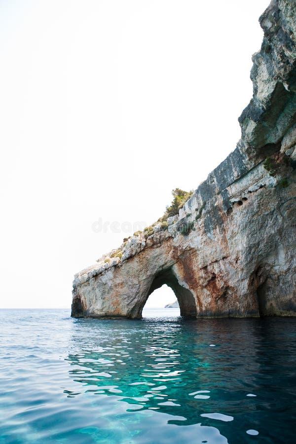 blåa grottor zakynthos arkivfoto
