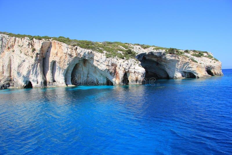 blåa grottor zakynthos royaltyfria foton