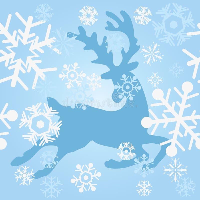 blåa hjortar royaltyfri illustrationer