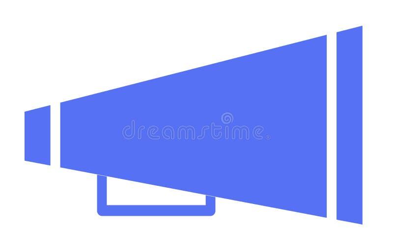 Blåa jubelmegafonsymboler på vit bakgrund jubelmegafonsymbol f?r din webbplatsdesign, logo, app, UI Plan stil bullhorn royaltyfri illustrationer