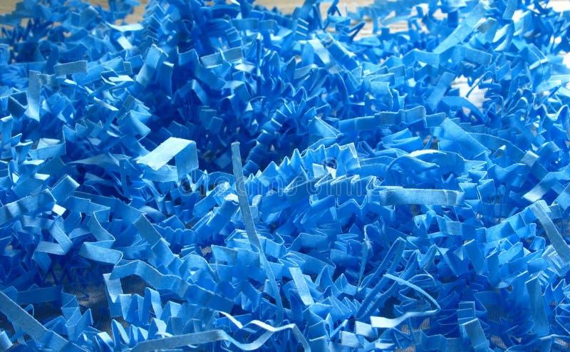 blåa konfettiar arkivbilder