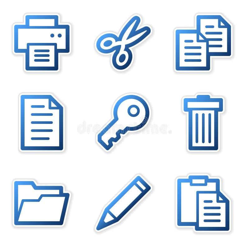 blåa konturförlagesymboler vektor illustrationer