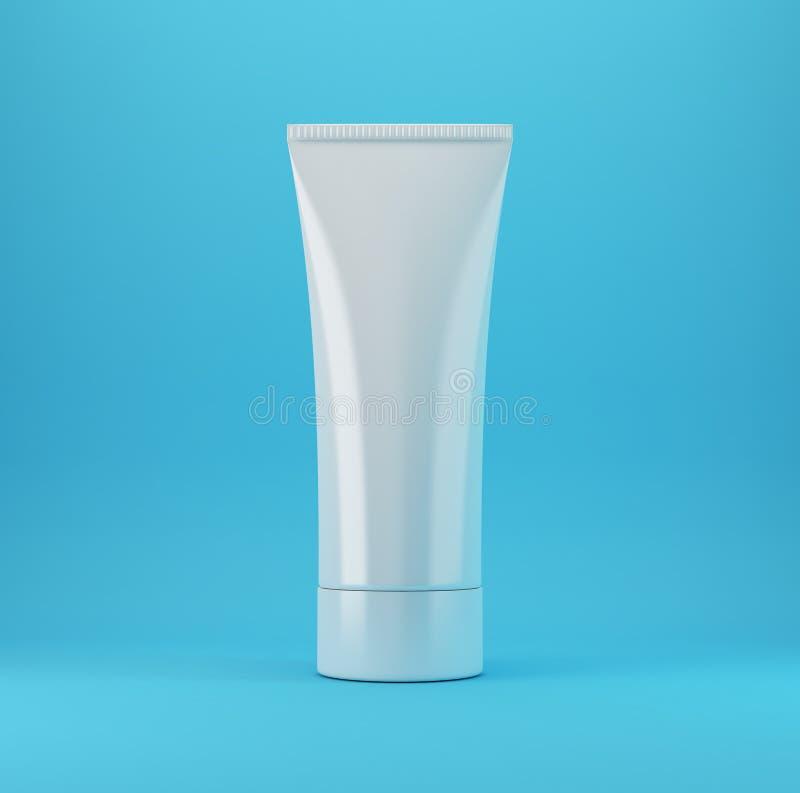blåa kosmetiska produkter 1 royaltyfria bilder