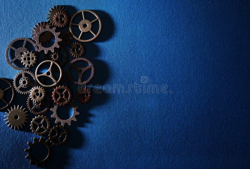 blåa kugghjul arkivbilder
