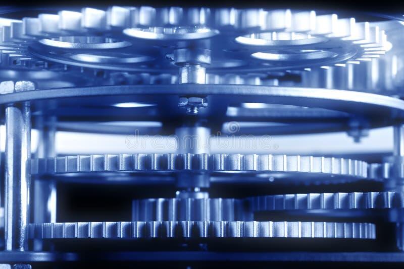 blåa kugghjul royaltyfria foton