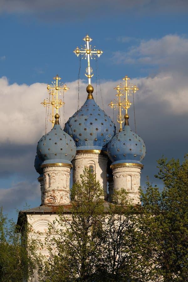 Blåa kupoler arkivbild