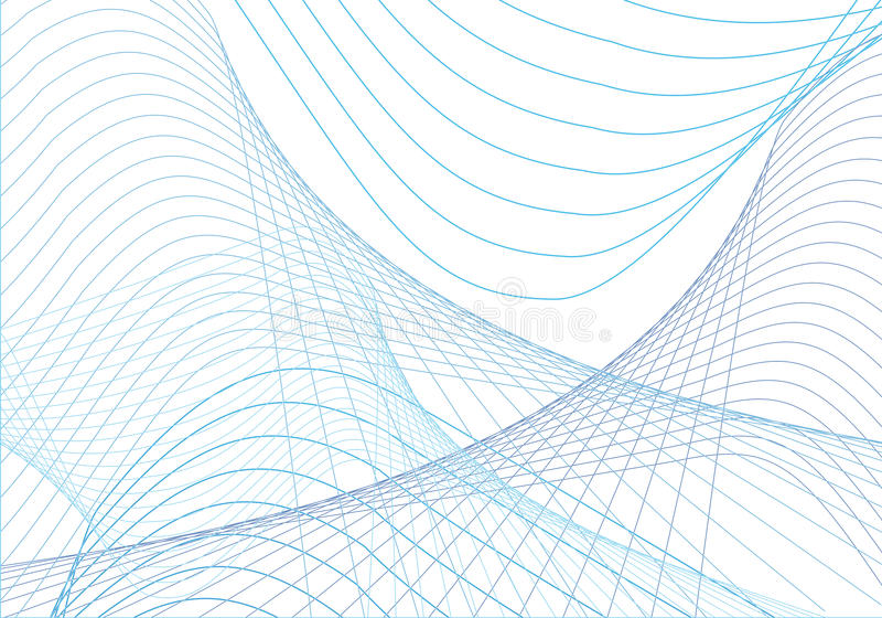 blåa kurvor stock illustrationer
