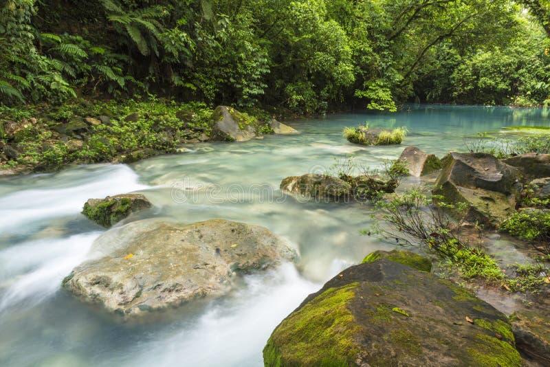 Blåa lagun och Rio Celeste royaltyfri foto