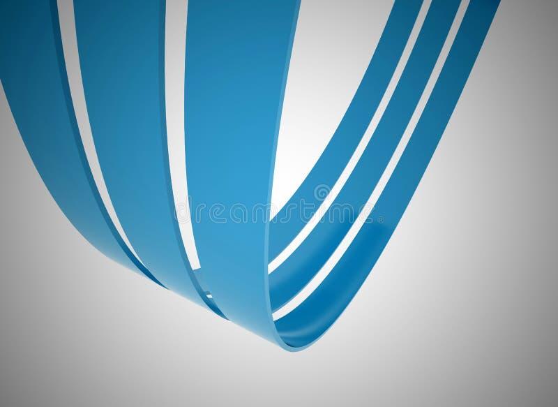 blåa linjer för illustration 3d vektor illustrationer