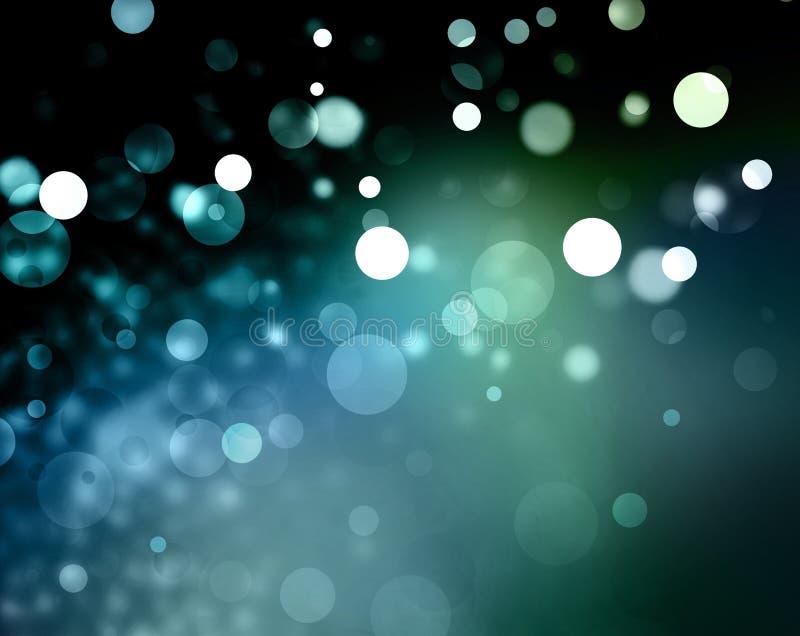 Blåa ljus för vit jul för bakgrund royaltyfri foto