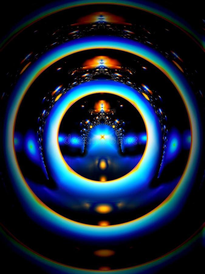 blåa ljusa cirklar royaltyfri illustrationer