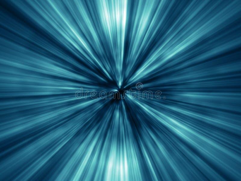 blåa ljusa lottstrålar stock illustrationer