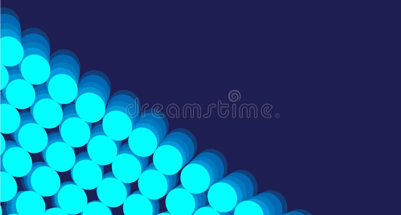 Blåa lutningcirklar för abstrakt bakgrund vektor illustrationer