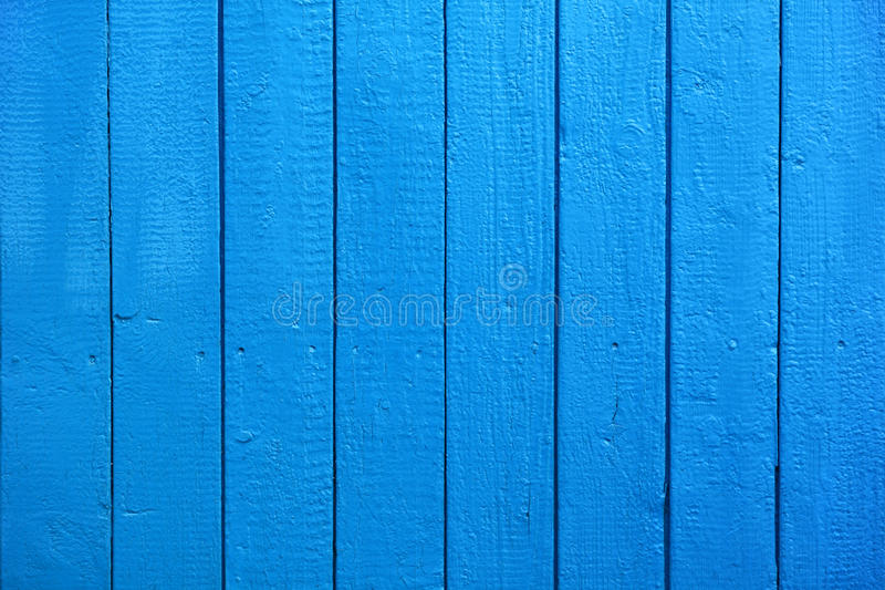 Blåa målade Wood plankor som bakgrund eller textur royaltyfri bild