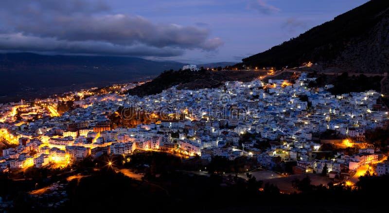 Blåa Medina Av Chefchaouen, Marocko Arkivbild