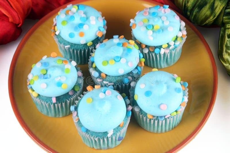 Blåa muffin royaltyfri foto