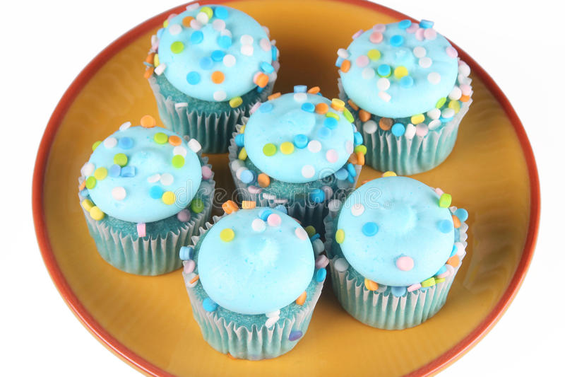 Blåa muffin arkivfoto