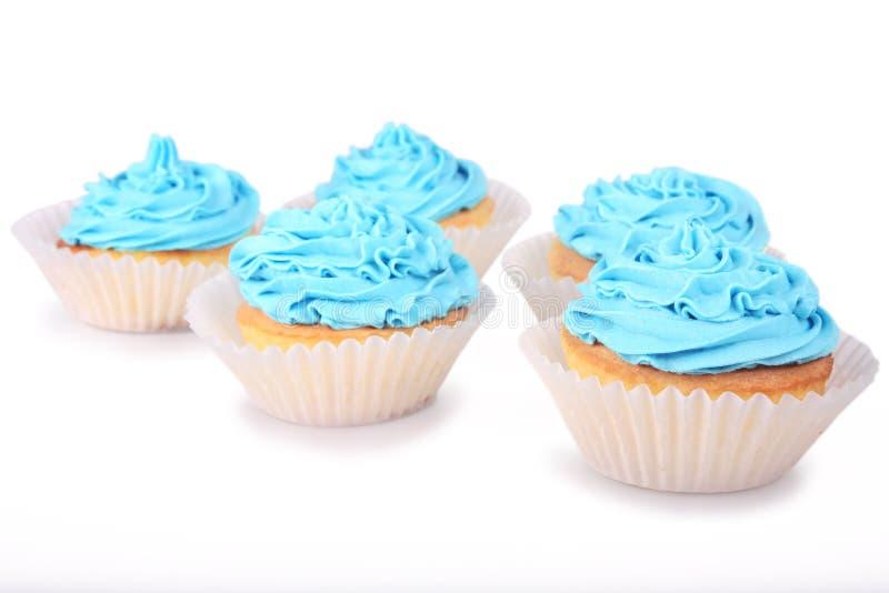 blåa muffiner royaltyfria foton