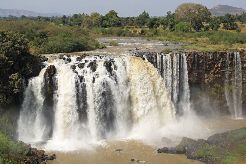 Blåa Nilennedgångar Bahar Dar, Etiopien royaltyfria foton