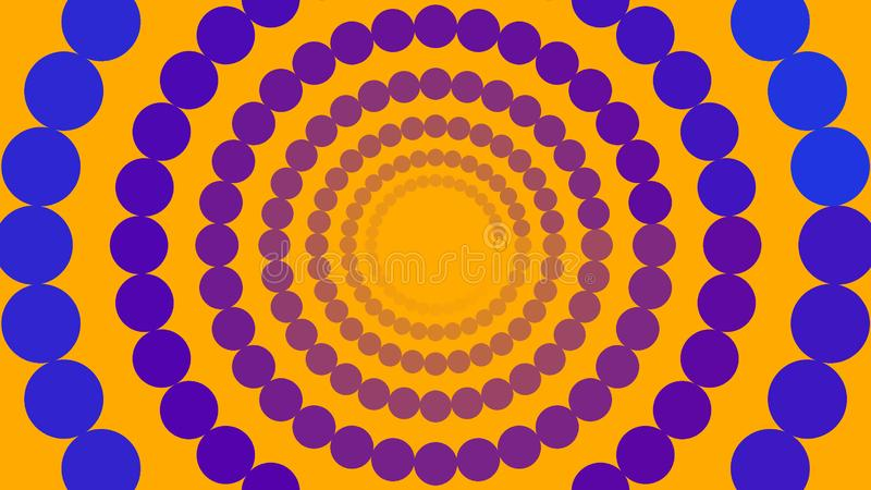 Blåa och purpurfärgade cirklar vektor illustrationer