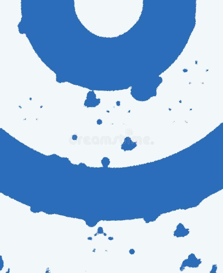 Blåa och vita cirklar arkivfoton