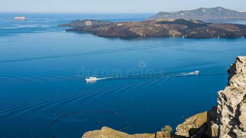 Blåa och vita Santorini royaltyfri foto
