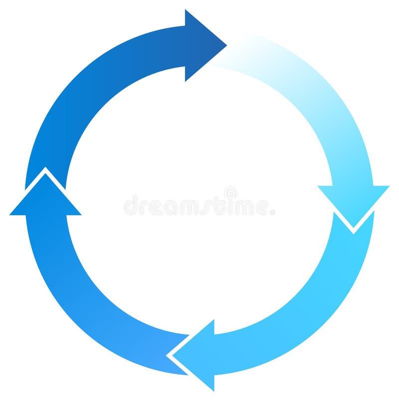 blåa pilar stock illustrationer