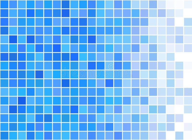 Blåa PIXEL planlägger textur vektor illustrationer