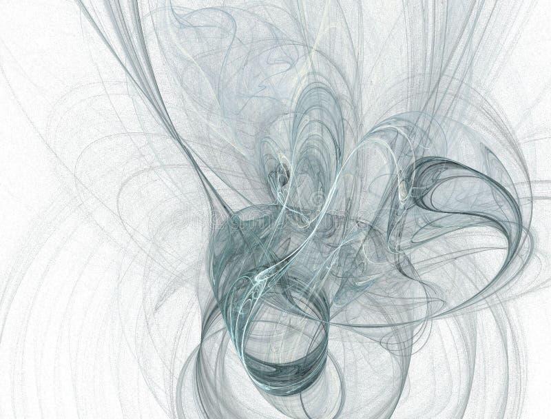 blåa rökkrickatestar royaltyfri illustrationer