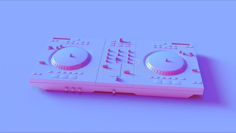 Blåa rosa discjockeydäck royaltyfria bilder