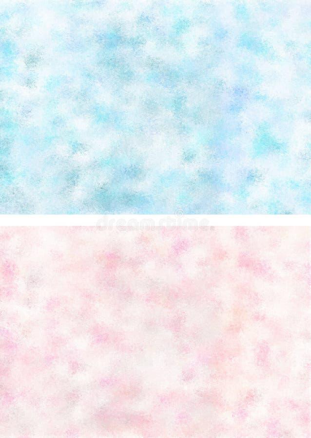 blåa rosa texturer royaltyfri illustrationer