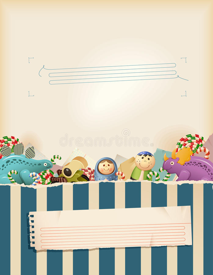 blåa söta barndomminnen royaltyfri illustrationer