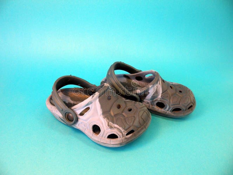 blåa sandals royaltyfri bild