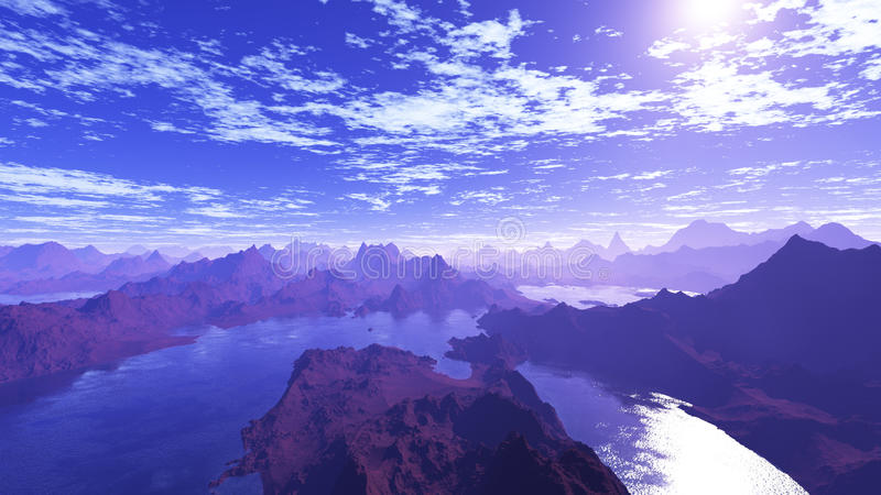 Blåa sjöar 3 royaltyfri illustrationer