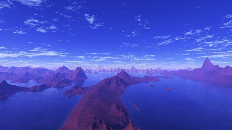 Blåa sjöar 1 arkivfoton