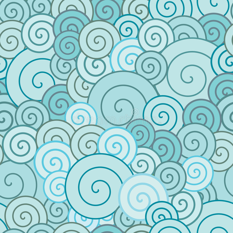 blåa spiral vektor illustrationer