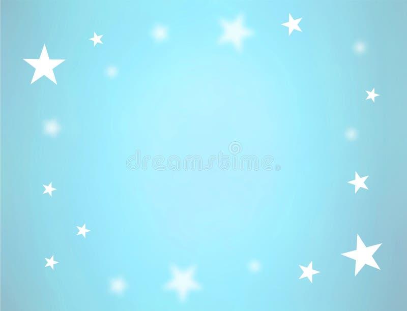 blåa stjärnor vektor illustrationer