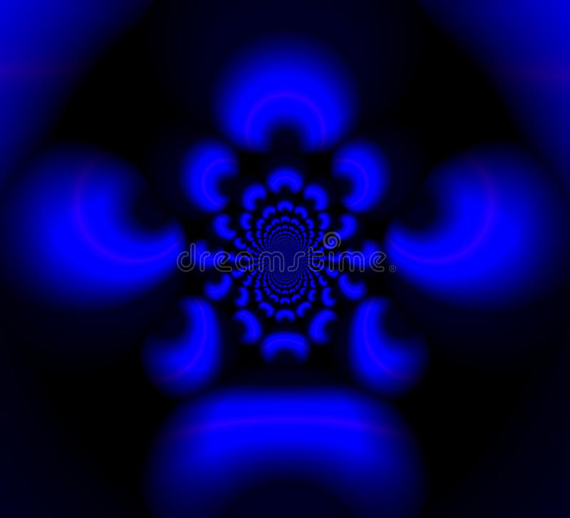 Blåa suddiga modeller i det svarta hålet vektor illustrationer