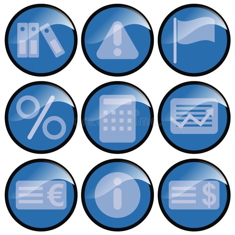 blåa symboler royaltyfri illustrationer