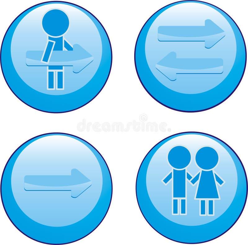 blåa symboler vektor illustrationer