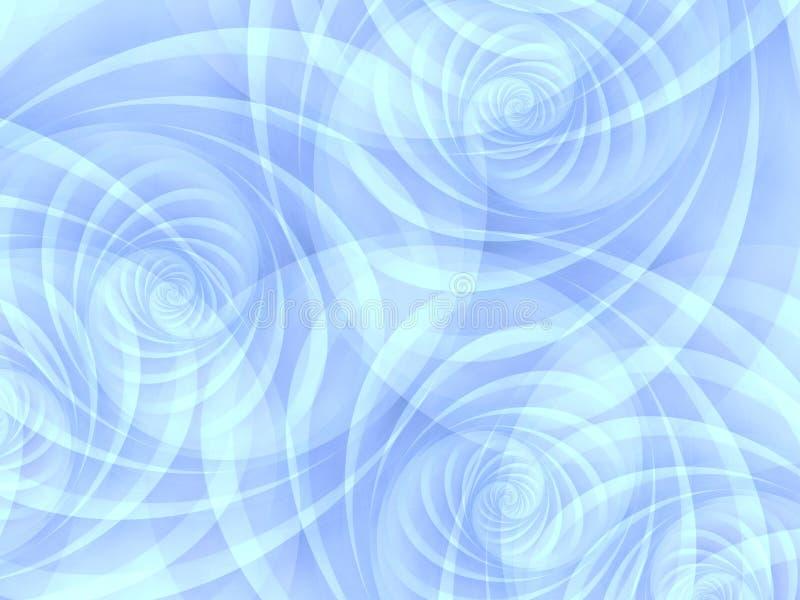 blåa täckande spiralswirls stock illustrationer