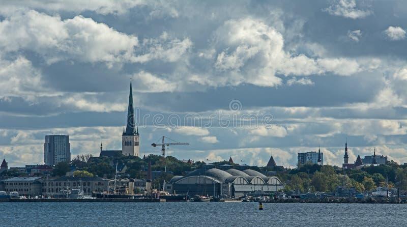 Blåa Tallinn royaltyfria foton